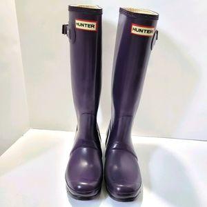 Hunter tall boots purple size 6